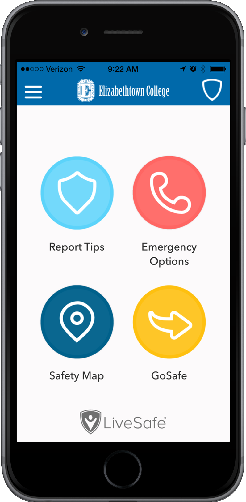 Livesafe home screen